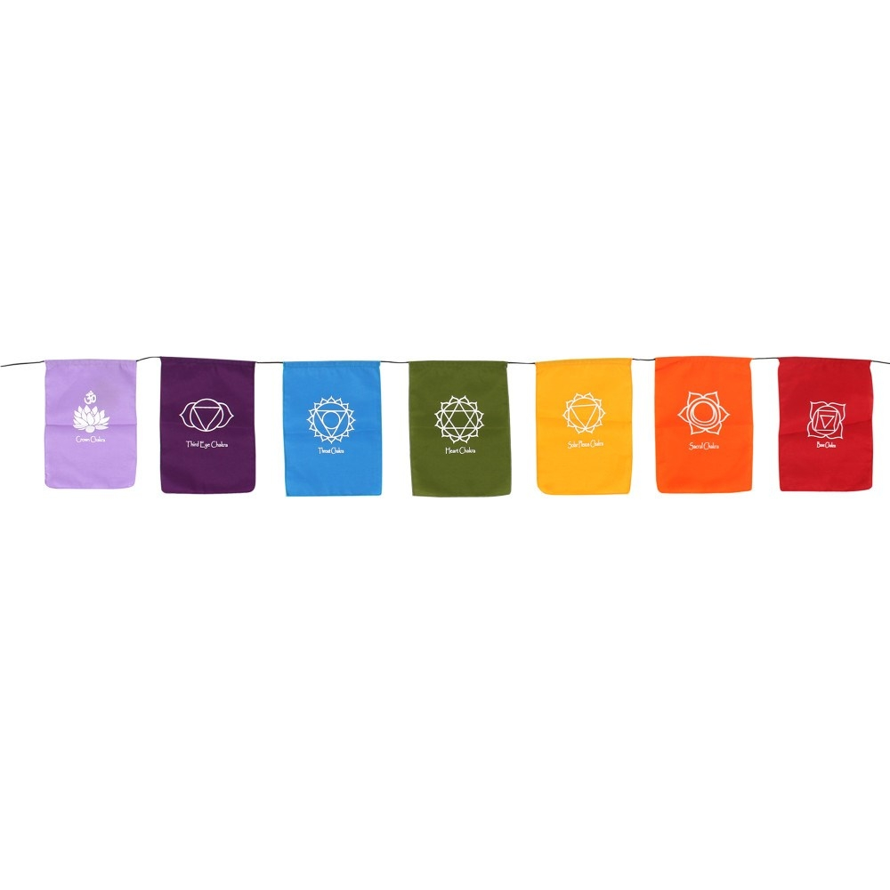 Click to view product details and reviews for Chakra Symbol Rainbow Bunting.