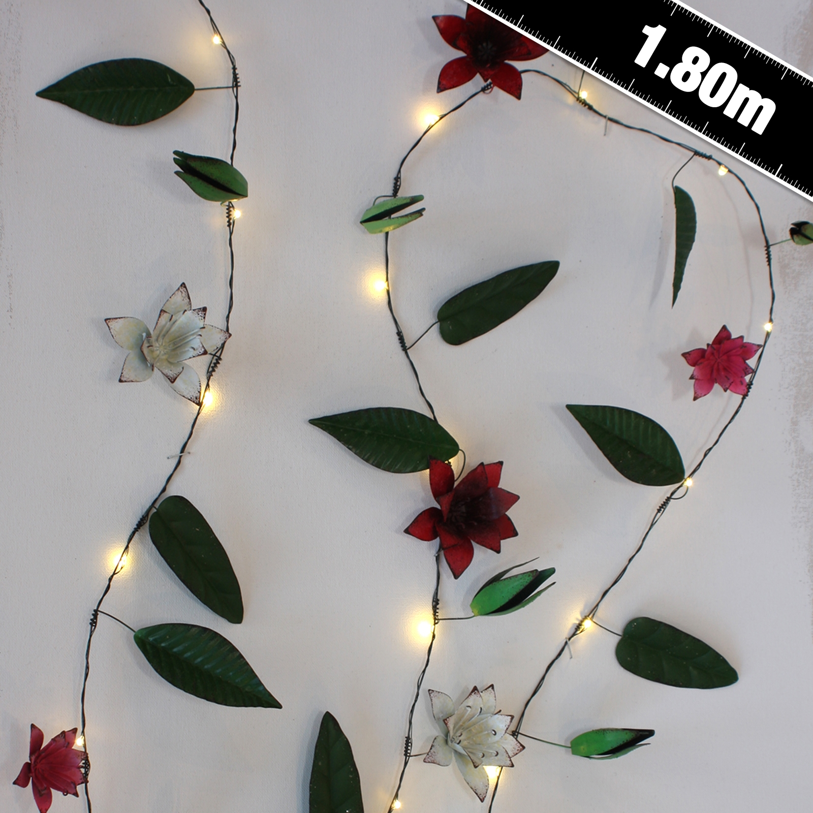 Click to view product details and reviews for Clematis Metal Floral String Lights.