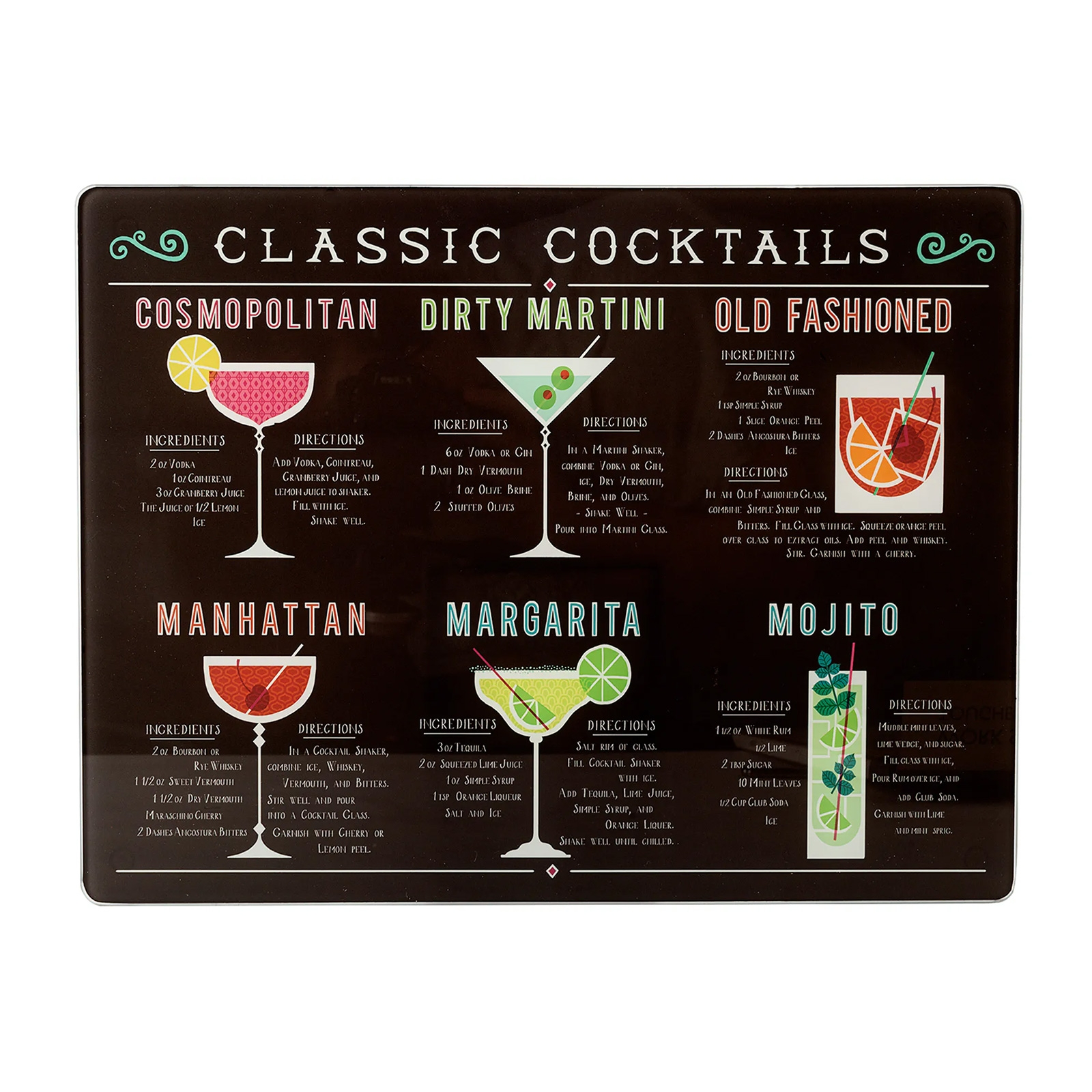 Worktop Saver Classic Cocktails