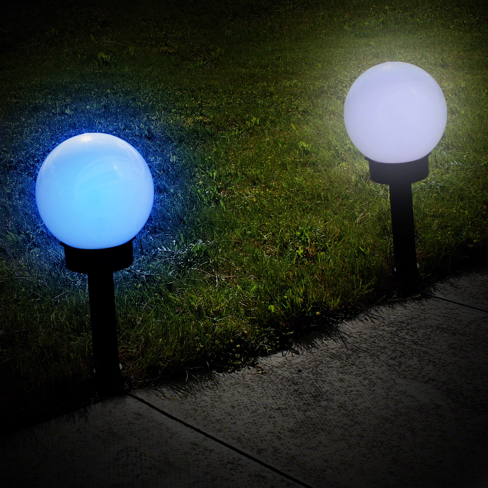 Click to view product details and reviews for Solar Colour Change Globe Stake Light.