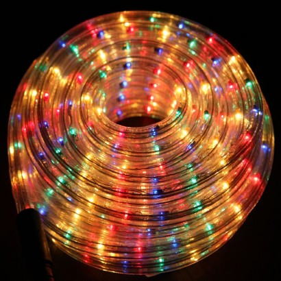 Multi coloured led rope light 10 metre multi colour rope light mozeypictures Images