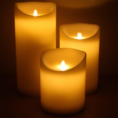 extra large dancing flame pillar candles. Black Bedroom Furniture Sets. Home Design Ideas