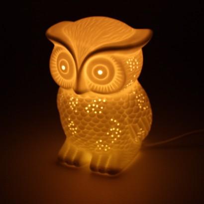 3D Ceramic Lamp Owl