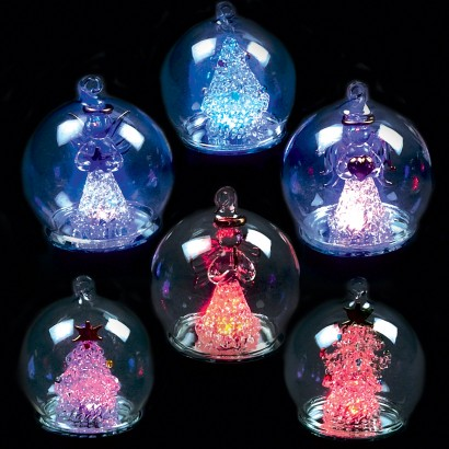 6cm LED Baubles (6 Pack). Light Your Christmas Tree ...
