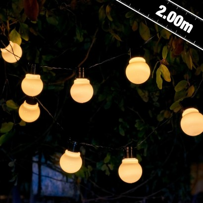 Classic white festoon garden lights that are solar powered for easy placement and atmospheric lighting night after night. Read more. & Aurgalow White Solar Festoon Garden Lights