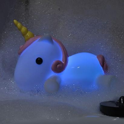 Light Up Colour Change Unicorn Bath Plug