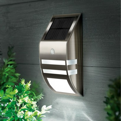 Black nickel motion sensor solar wall light a stylish wall sensor solar light with motion sensor for garden and security lighting read more workwithnaturefo
