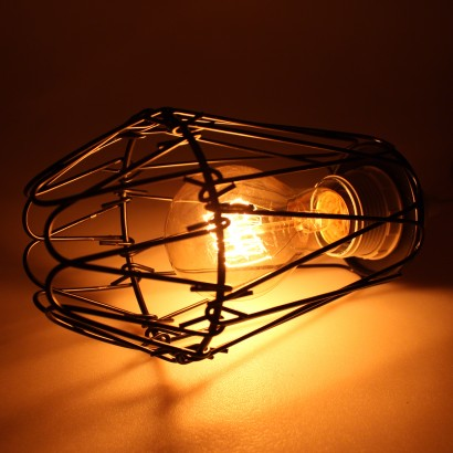 Black wire bulb cage lampshade black wire cage lampshade bulb sold seperately keyboard keysfo Gallery