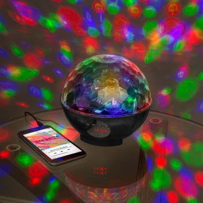 Bluetooth Disco Light Party Speaker Amp Radio
