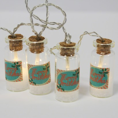Christmas Glass Jar Fairy Lights