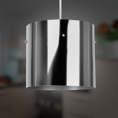 Contemporary metallic cylinder lampshades complete the look in a minimalist styled room with a super sleek metallic easilite pendant lampshade read more aloadofball Gallery