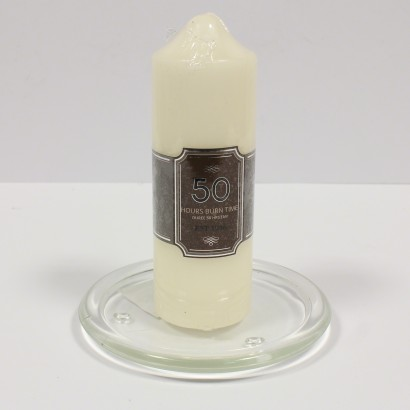 with Church Pillar Candle 50hr (sold separately)