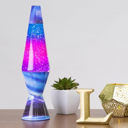 d5fa3baf786 The hypnotic beauty of the Northern Lights is captured in swirling glitter  in this hand painted lamp. Read more.