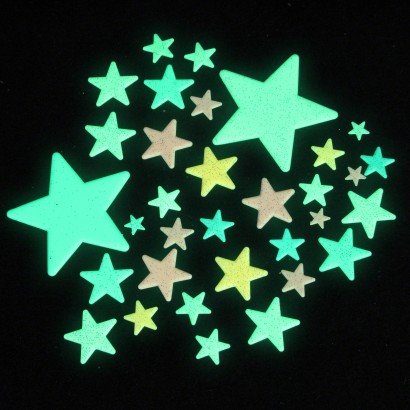 Coloured Glow In The Dark Stars