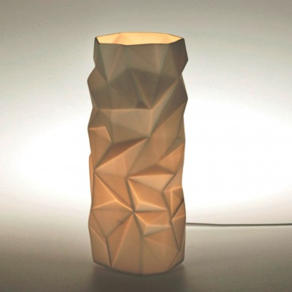 Porcelain cylinder table lamp an unusual table lamp with a contemporary geometric design this porcelain cylinder lamp shines with an atmospheric warming glow read more aloadofball Image collections