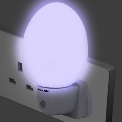 58b3d6cec2da A fantastic plug in LED nightlight that remains cool to the touch, the Dome  Automatic Nightlight casts a soft blue glow and is ideal for use in  children's ...