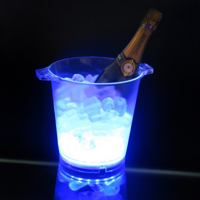 Flashing Blue Led Ice Bucket