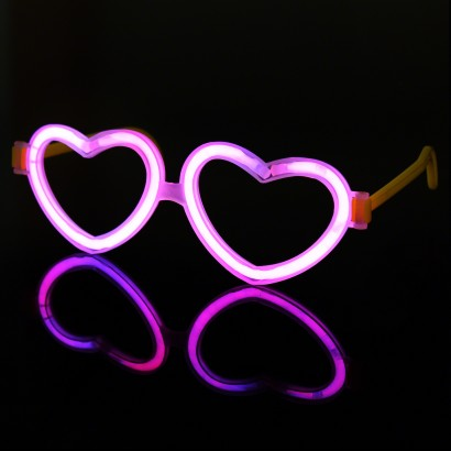 Glowstick Heart Glasses