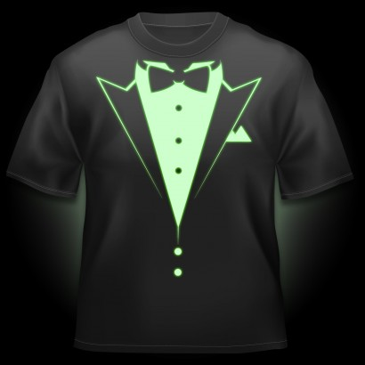 Glow In The Dark Tuxedo T Shirt At The Glow Company