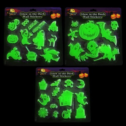 Halloween glow in the dark wall stickers single