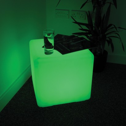 Light up cube seat colour change outdoor cube aloadofball Choice Image