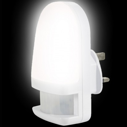 c04c8b0f5595 LED Night Light With PIR Sensor. Lit by natural white LEDs, this plug in ...