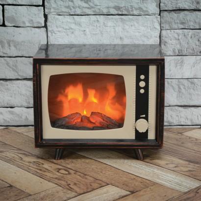 Led Vintage Tv Fireplace Lamp