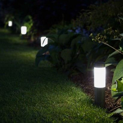 Solar powered garden post lights add a finishing touch to your garden illuminating paths and borders with white light from contemporary post lights read more aloadofball Image collections