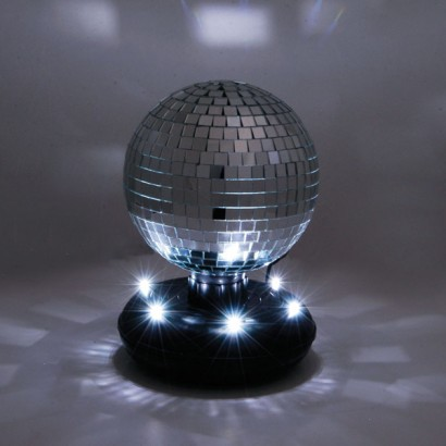 Portable Mirror Ball On Stand Alone Led Base