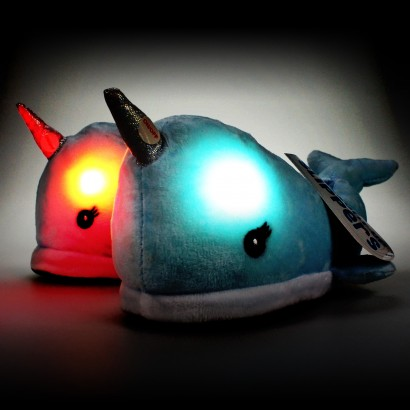 c0138e3c3 With a soft, cuddly plush and light up cheeks, these kid's narwhal slippers  are guaranteed to keep kids toasty this winter! Read more.