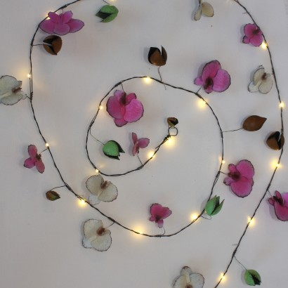Hand painted orchid metal flower string lights orchid metal floral string lights mightylinksfo Image collections