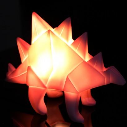 Origami Pink Stegosaurus Dinosaur Lamp