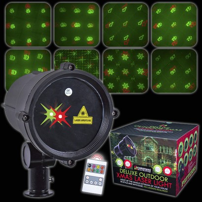 One laser light with 8 festive images for the ultimate outdoor Christmas decoration! Read more.  sc 1 st  The Glow Company & Christmas Garden Laser Projector