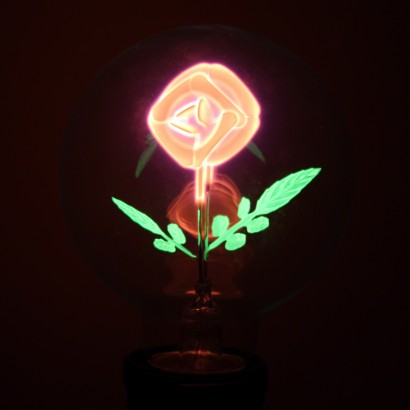Red Rose Filament Globe Bulb