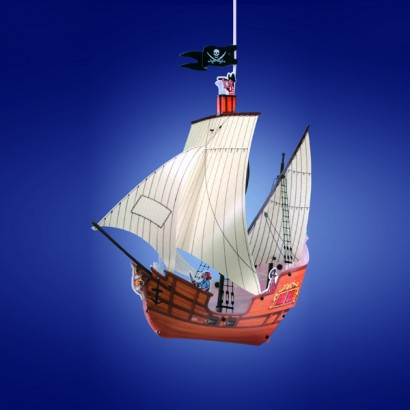 Pirate Ship Lamp Shade