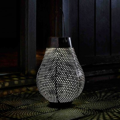 A Stunning Table Top Or Hanging Lantern, The Solar Aswan Lantern Casts  Decorative Silhouettes From Itu0027s Perforated Metal Design... Read More.