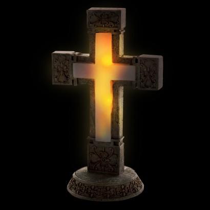Solar Memorial Garden Cross