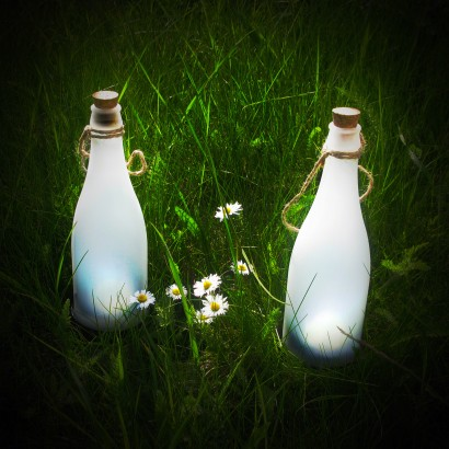 White Led Solar Frosted Bottle Lights