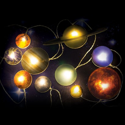 Space Solar System String Lights