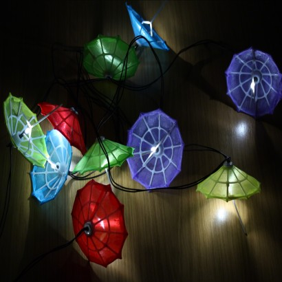 Solar Powered Umbrella Garden Lights
