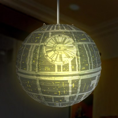 star wars death star paper lampshade. Black Bedroom Furniture Sets. Home Design Ideas