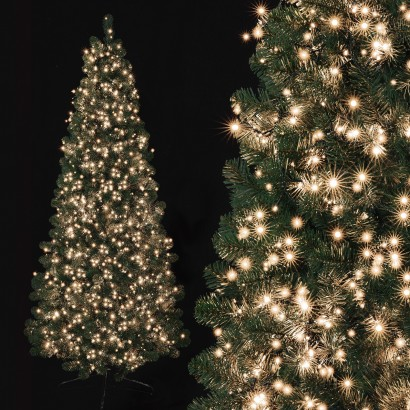 Christmas Tree With Lights.750 Warm White Treebrights With Timer