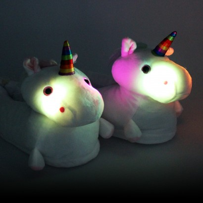 2397f6a7820 Light Up Unicorn Plush Slippers