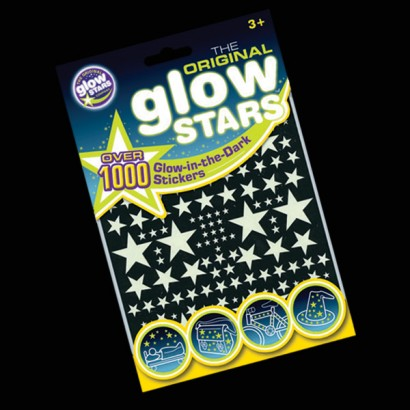 1000 glow in the dark stickers including stars rockets flying saucers and crescent moons incredible value fun glow star stickers that glow in the dark