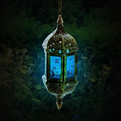 Moroccan Styled Hanging Metal Lantern