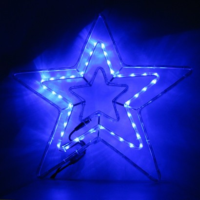 5m led star rope light christmas decoration a whopping 70cm led ropelight star with snazzy starburst effect read more aloadofball Gallery