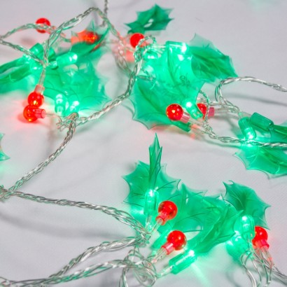 60 Led Holly Berry Christmas Lights