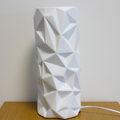 An Unusual Table Lamp With A Contemporary Geometric Design This Porcelain Cylinder Shines Atmospheric Warming Glow Read More