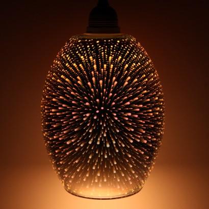 Dohan 3d Glass Metallic Pendant Shade