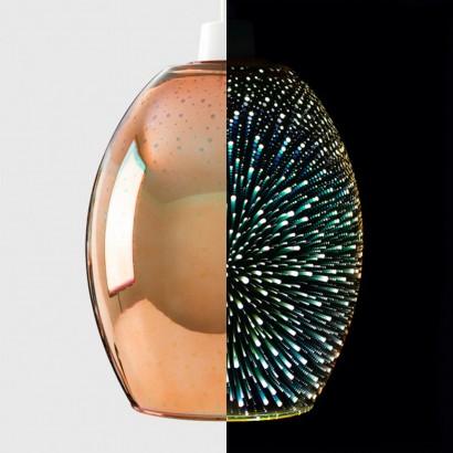 Dohan Antique Copper 3d Glass Pendant Shade